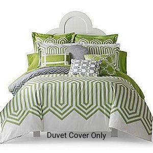 geometric cotton reversible king duvet cover